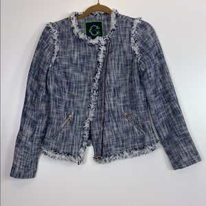 C. Wonder I NWT Navy Tweed Jacket Size 2